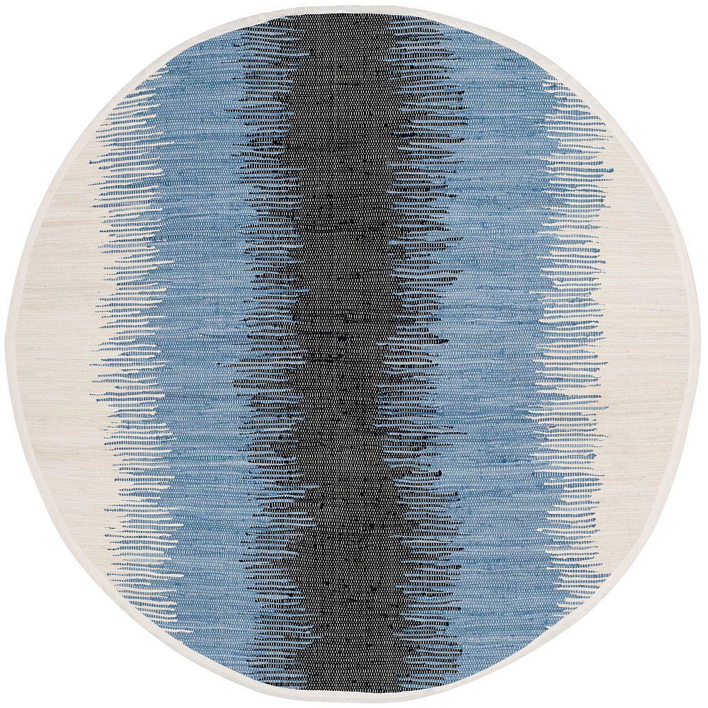 Safavieh Montauk Mort Grey / Black 6 ft. x 6 ft. Indoor Round Area Rug