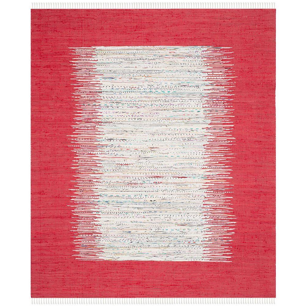 Safavieh Montauk Delroy Ivory / Red 8 ft. x 10 ft. Indoor Area Rug