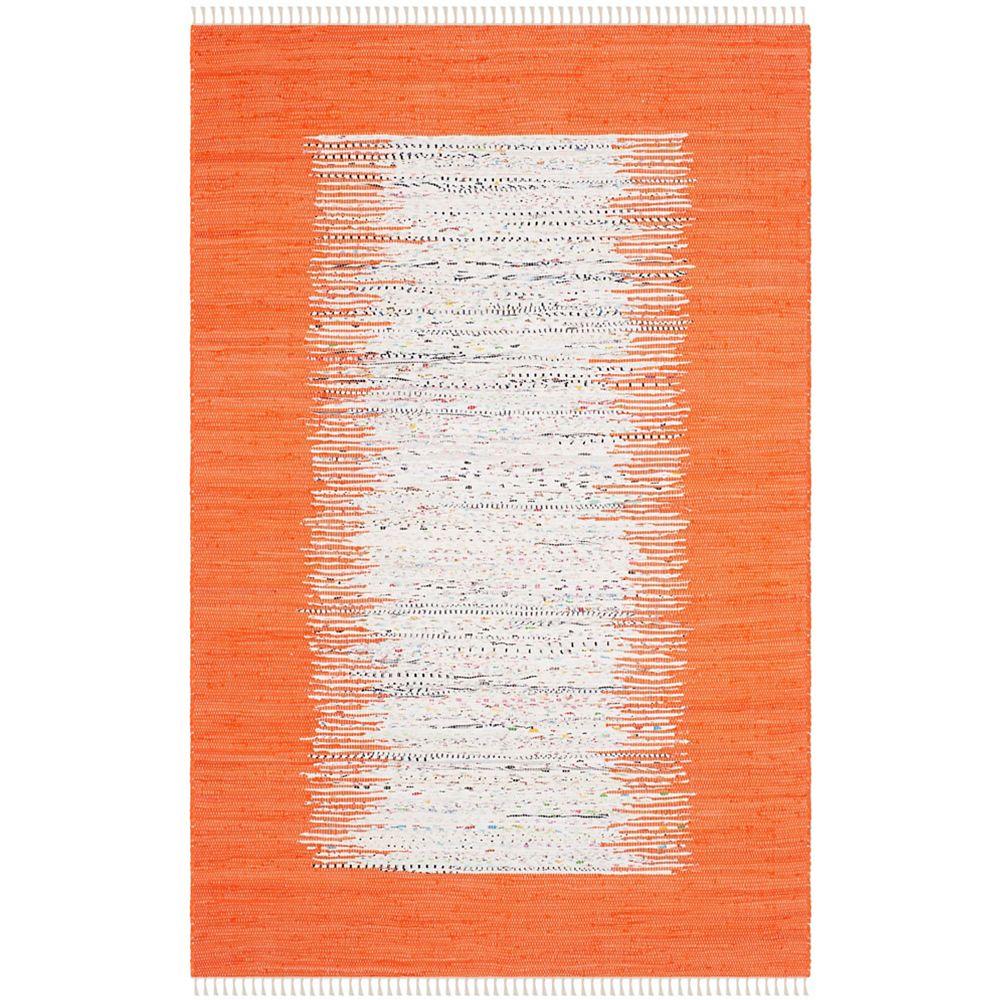 Safavieh Tapis d'intérieur, 5 pi x 8 pi, Montauk Delroy, ivoire / orange