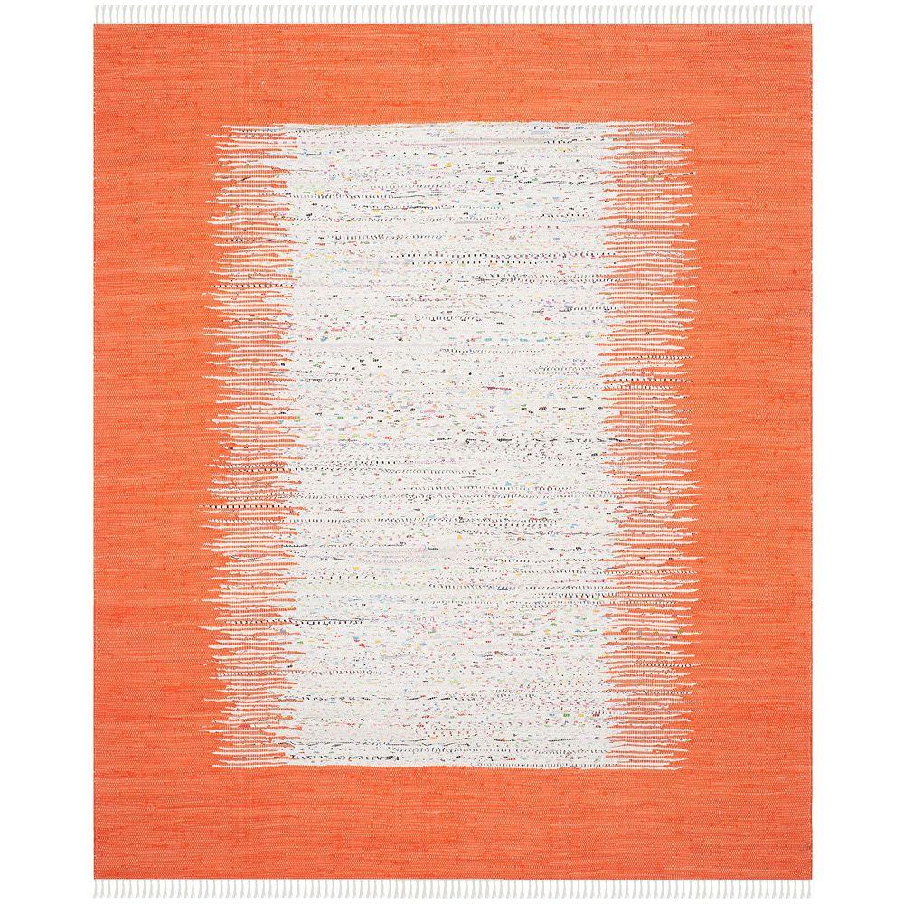 Safavieh Tapis d'intérieur, 8 pi x 10 pi, Montauk Delroy, ivoire / orange