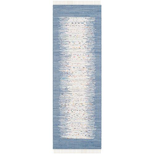 Safavieh Montauk Delroy Ivory / Dark Blue 2 ft. 3 inch x 9 ft. Indoor Runner
