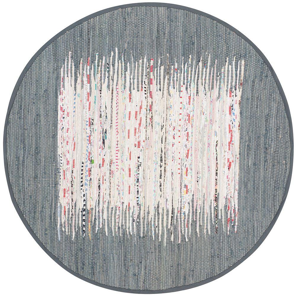Safavieh Montauk Delroy Ivory / Grey 4 ft. x 4 ft. Indoor Round Area Rug