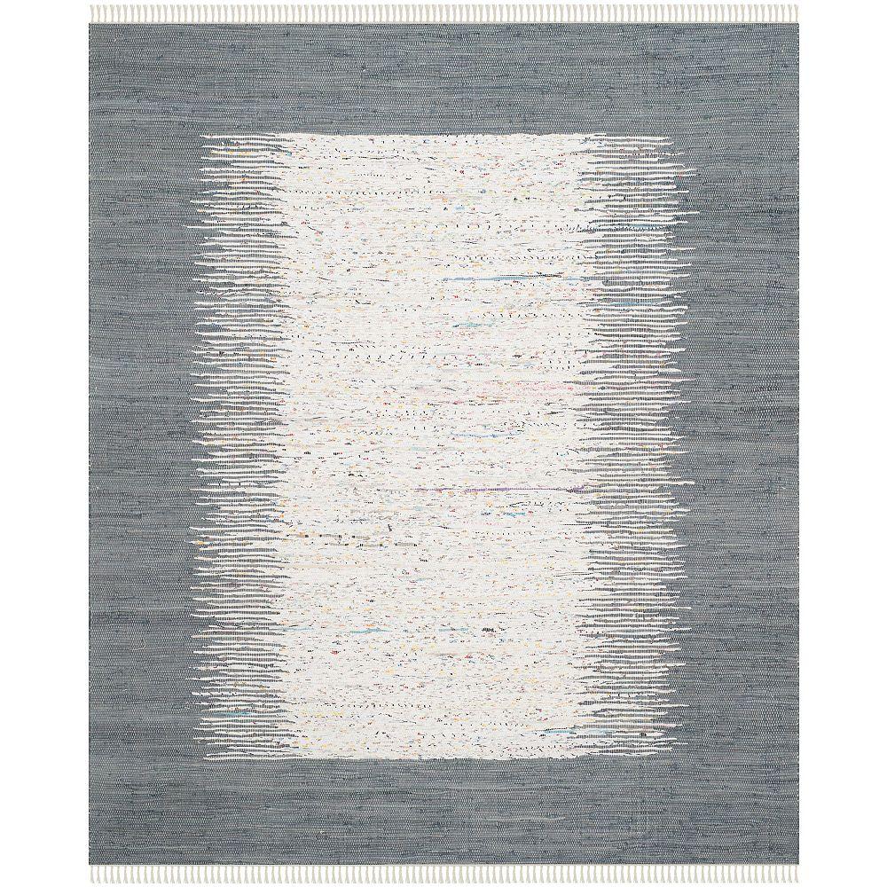 Safavieh Tapis d'intérieur, 8 pi x 10 pi, Montauk Delroy, ivoire / gris
