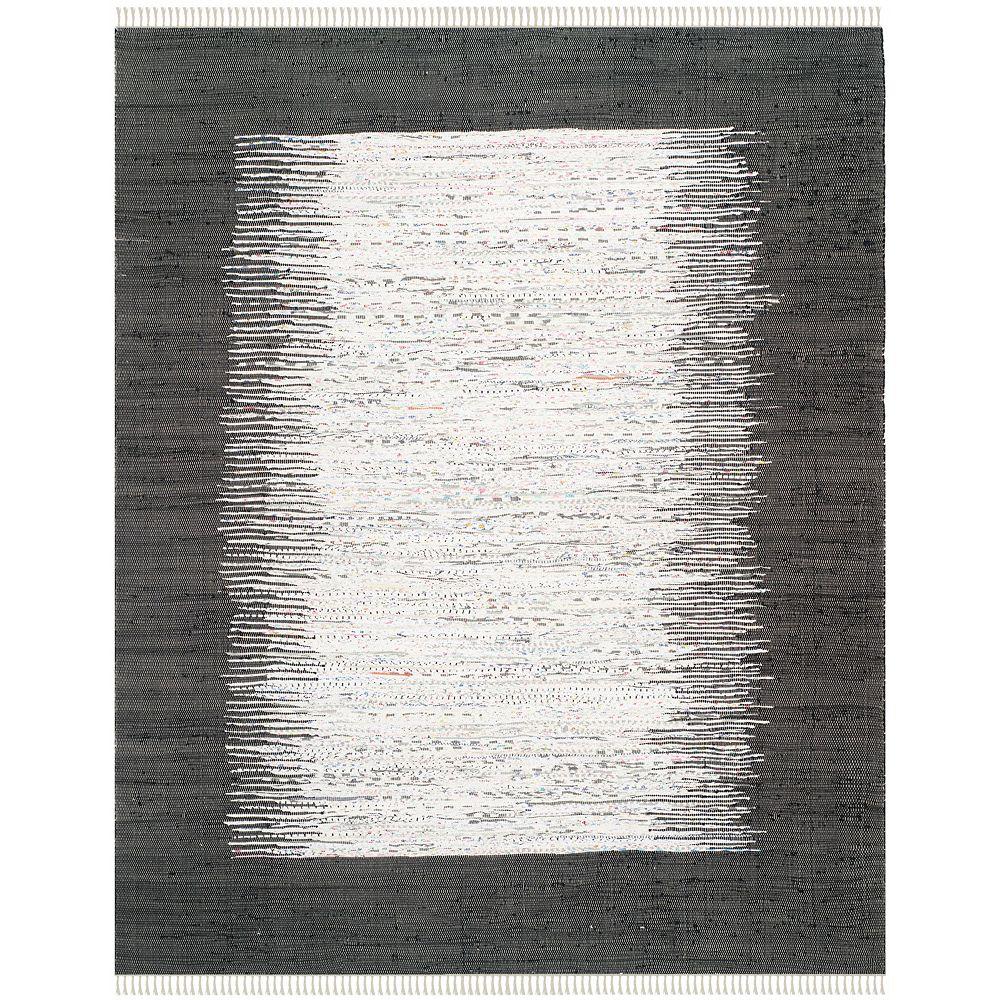 Safavieh Tapis d'intérieur, 8 pi x 10 pi, Montauk Delroy, ivoire / noir
