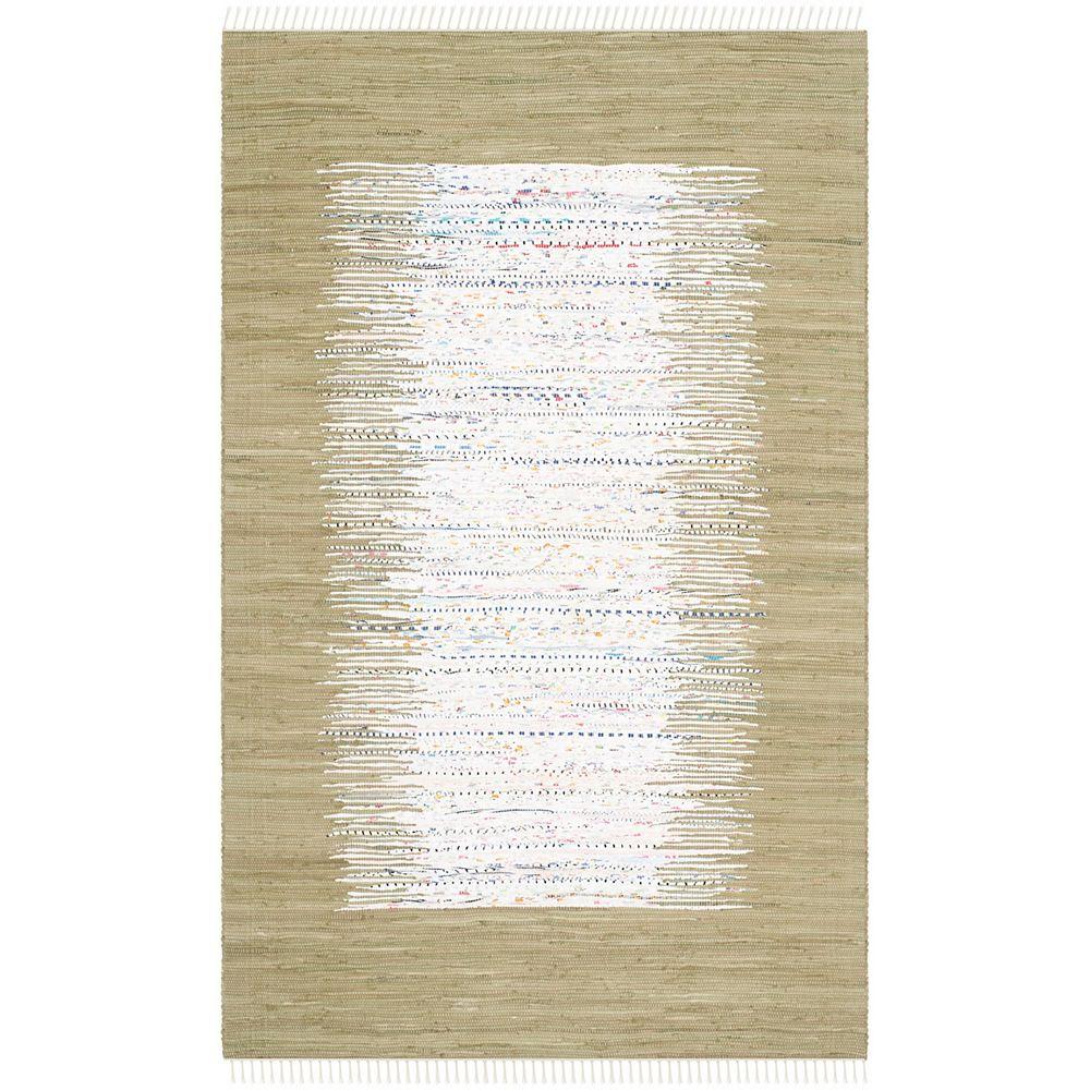 Safavieh Tapis d'intérieur, 5 pi x 8 pi, Montauk Delroy, ivoire / olive