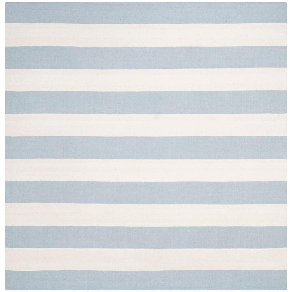 Safavieh Tapis d'intérieur carré, 6 pi x 6 pi, Montauk Keith, bleu ciel / ivoire