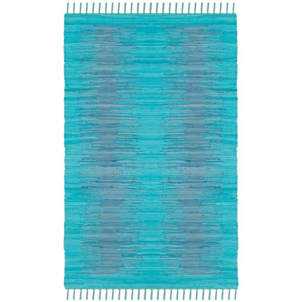 Safavieh Tapis d'intérieur, 3 pi x 5 pi, Montauk Kim, turquoise