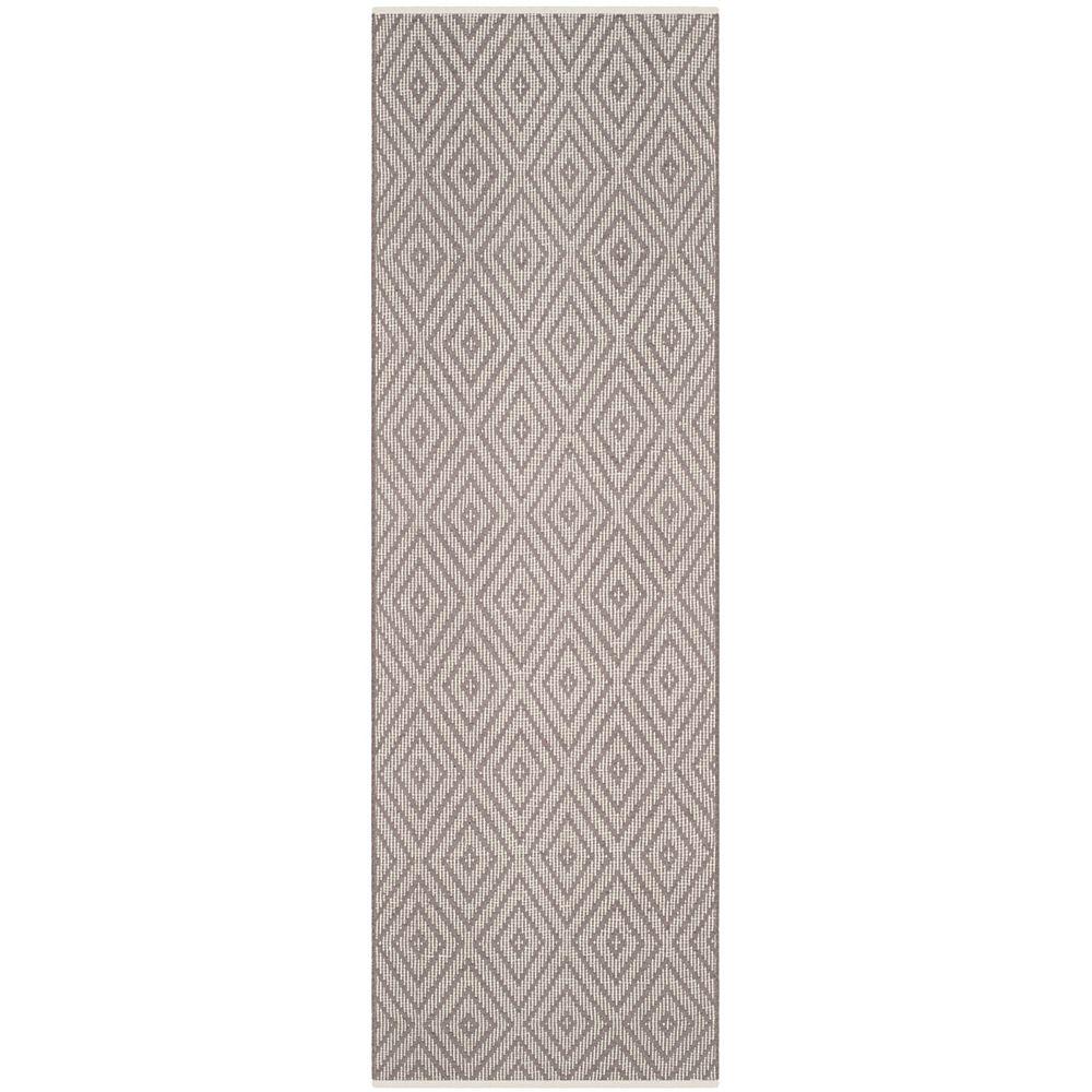 Safavieh Tapis de passage d'intérieur, 2 pi 3 po x 13 pi, Montauk Keegan, gris / ivoire