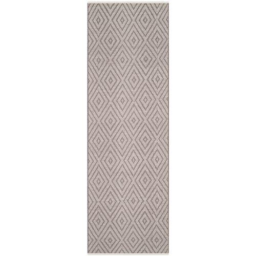 Tapis de passage d'intérieur, 2 pi 3 po x 7 pi, Montauk Keegan, gris / ivoire