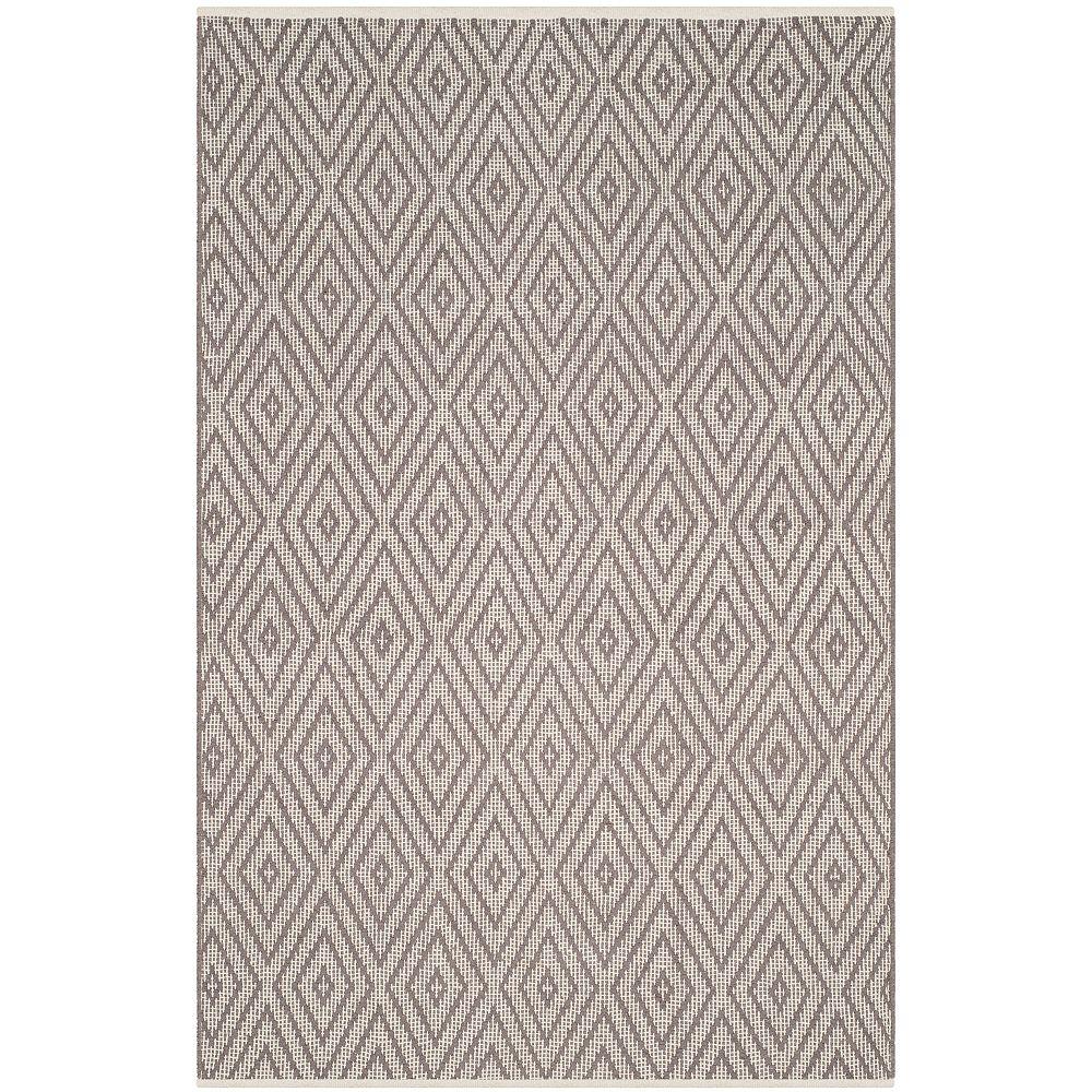Safavieh Tapis d'intérieur, 4 pi x 6 pi, Montauk Keegan, gris / ivoire