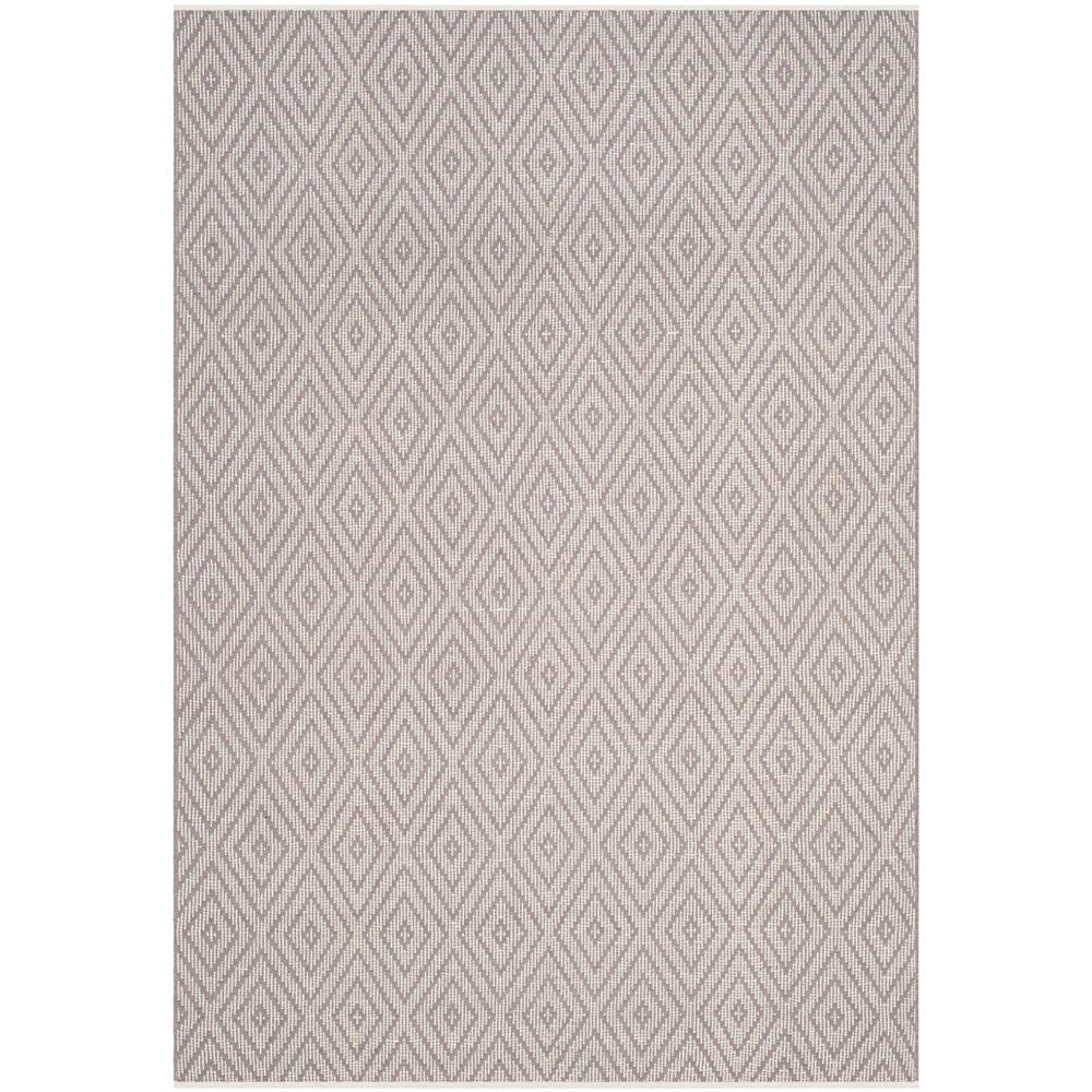 Safavieh Tapis d'intérieur, 5 pi x 8 pi, Montauk Keegan, gris / ivoire