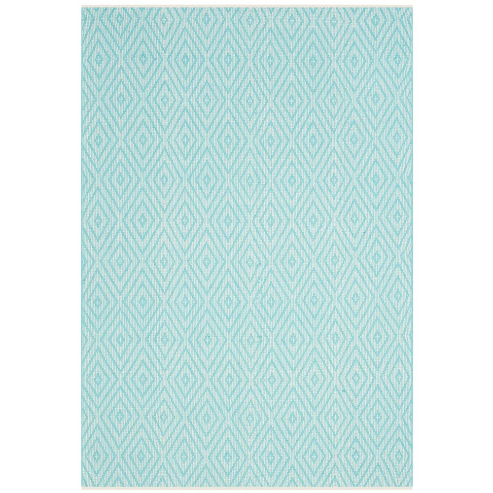 Safavieh Montauk Keegan Turquoise / Ivory 6 ft. x 9 ft. Indoor Area Rug
