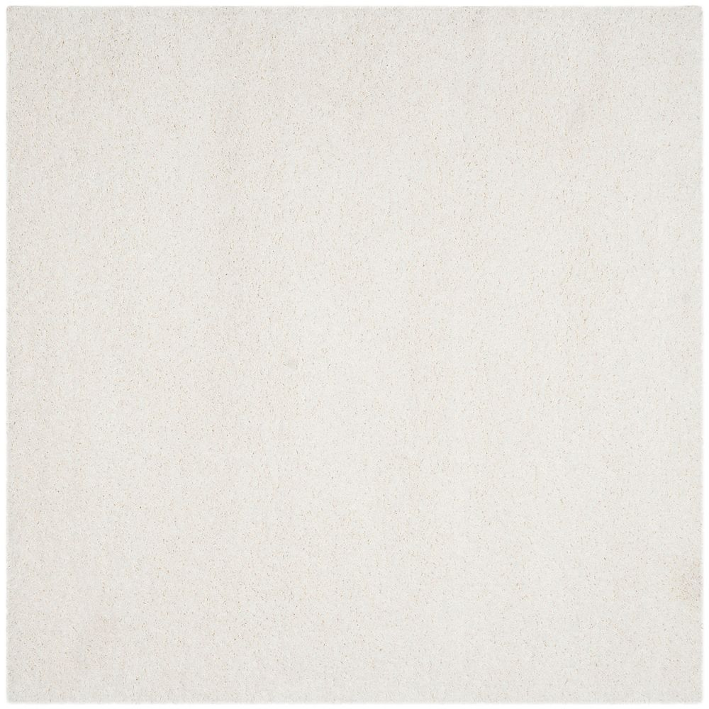 Safavieh Tapis d'intérieur carré, 8 pi 6 po x 8 pi 6 po, California Shag Felicia, blanc
