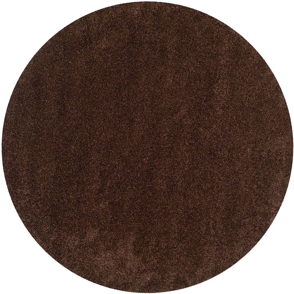 Safavieh Shag Felicia Brown 6 ft. 7-inch x 6 ft. 7-inch Indoor Round Area Rug