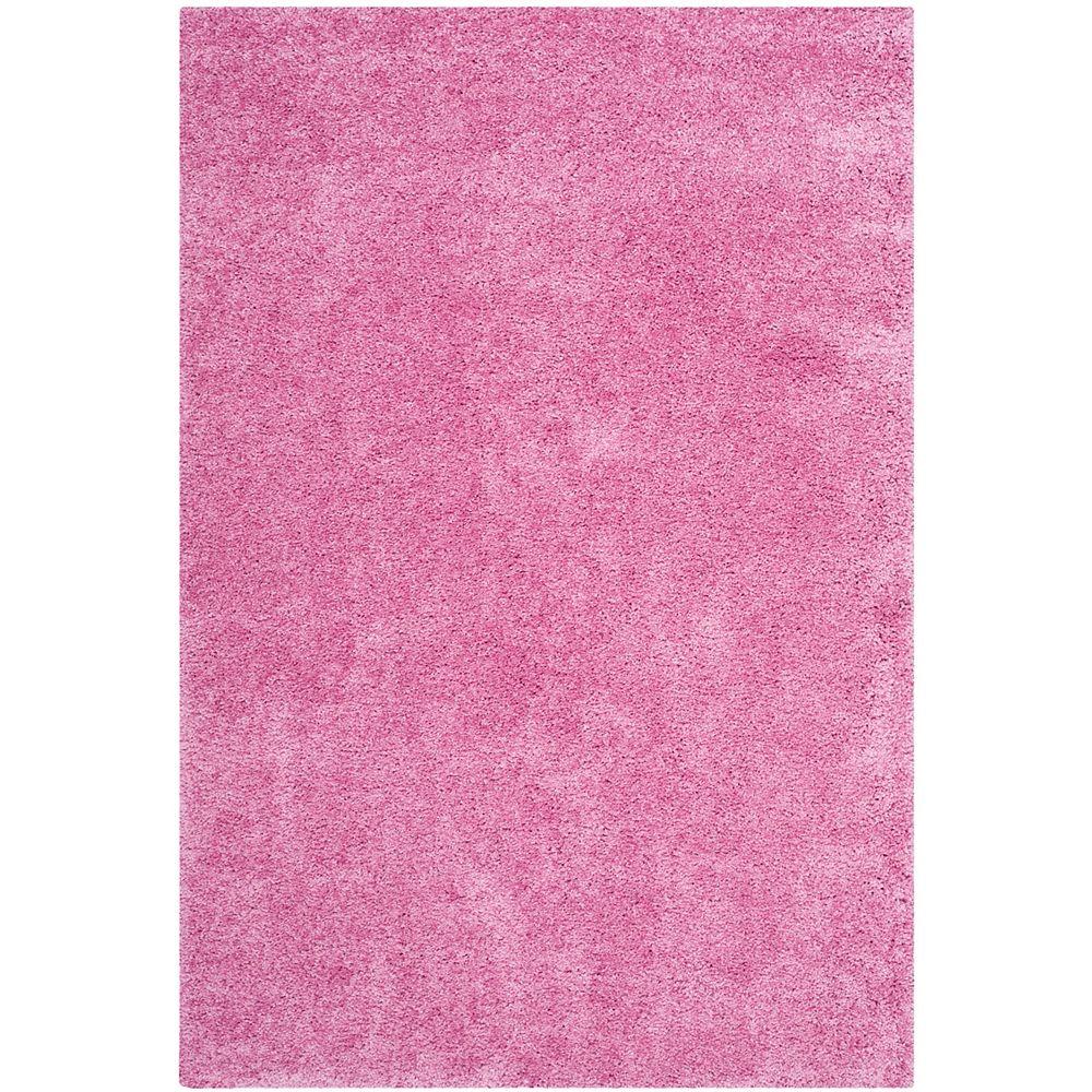 Safavieh Tapis d'intérieur, 4 pi x 6 pi, California Shag Felicia, rose