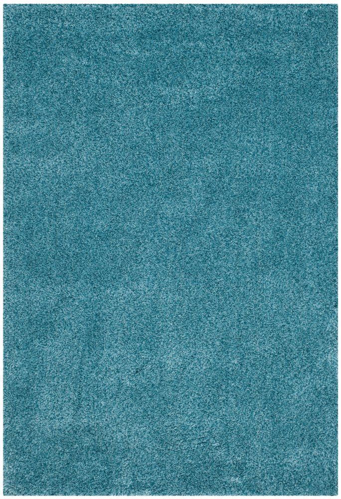 Shag Felicia Turquoise 4 ft. x 6 ft. Indoor Area Rug