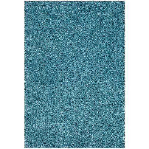 Shag Felicia Turquoise 4 ft. x 6 ft. Indoor Area Rug