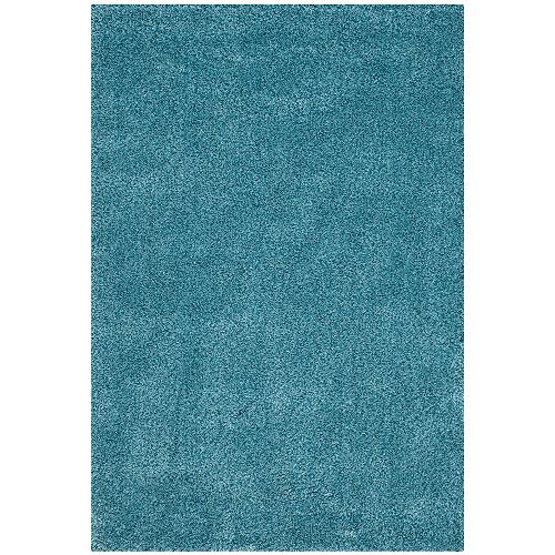 Shag Felicia Turquoise 5 ft. 3 inch x 7 ft. 6 inch Indoor Area Rug