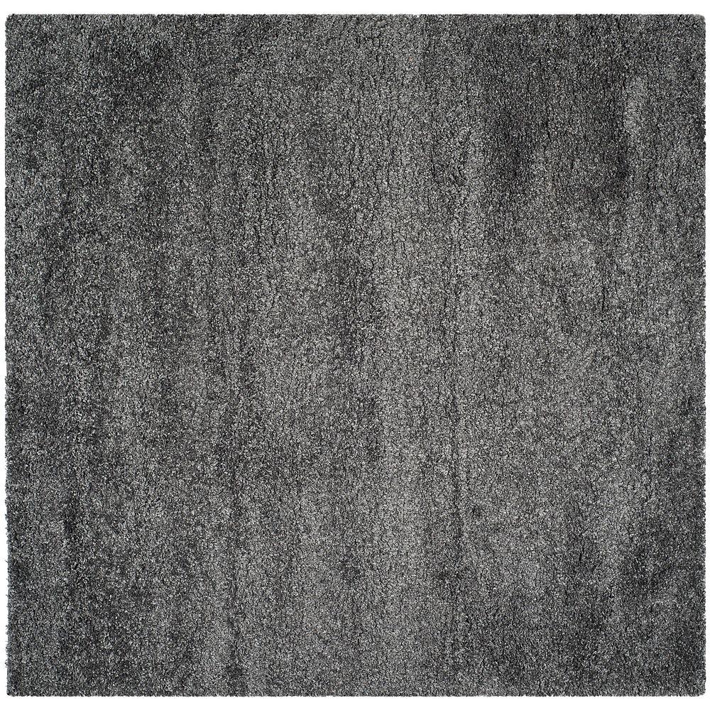 Safavieh Tapis d'intérieur carré, 8 pi 6 po x 8 pi 6 po, California Shag Felicia, dark gris