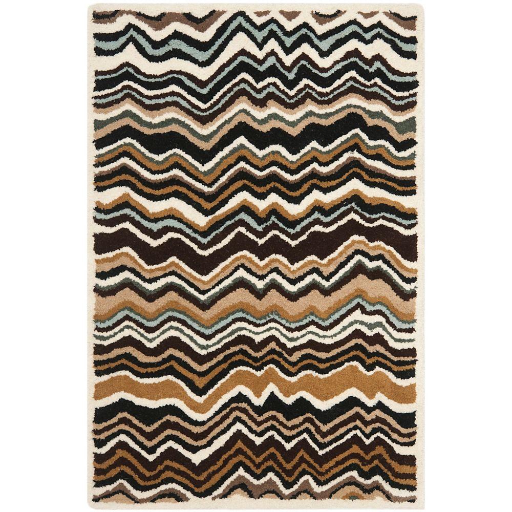Safavieh Wyndham Maria Brown / Multi 2 ft. 6 inch x 4 ft. Indoor Area Rug