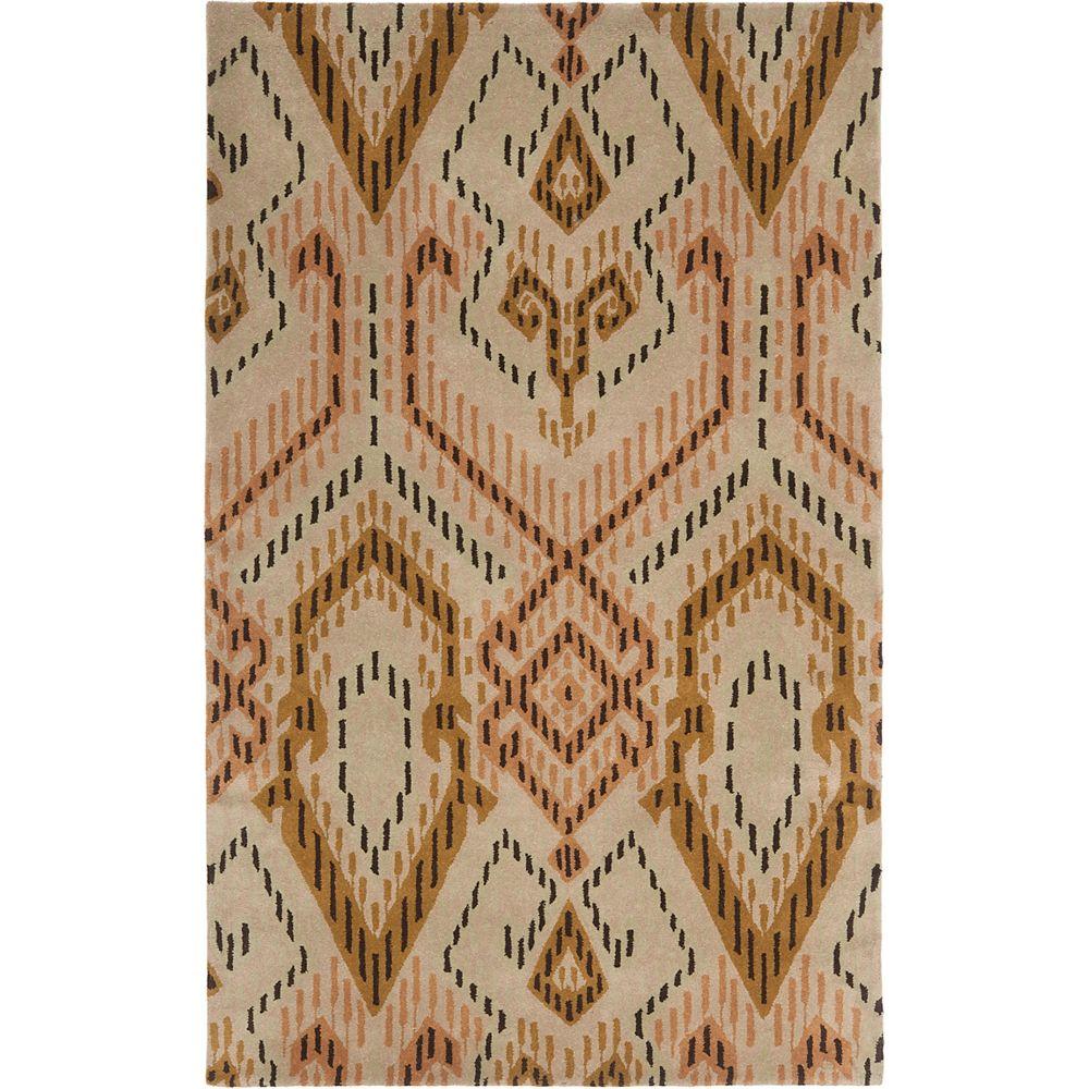 Safavieh Tapis d'intérieur, 5 pi x 8 pi, Wyndham Collin, brun / ivoire