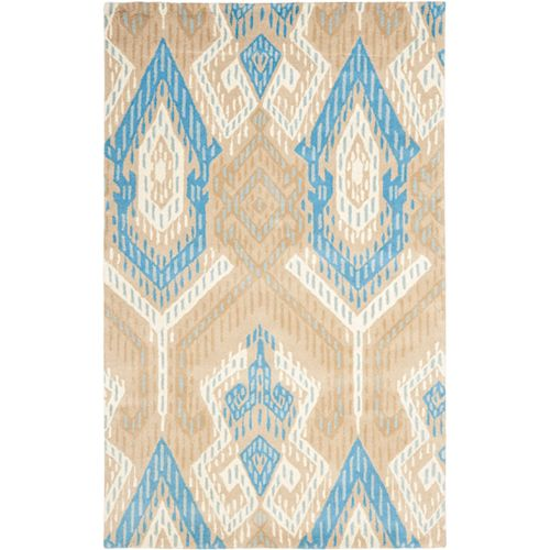 Safavieh Wyndham Collin Blue / Ivory 4 ft. x 6 ft. Indoor Area Rug