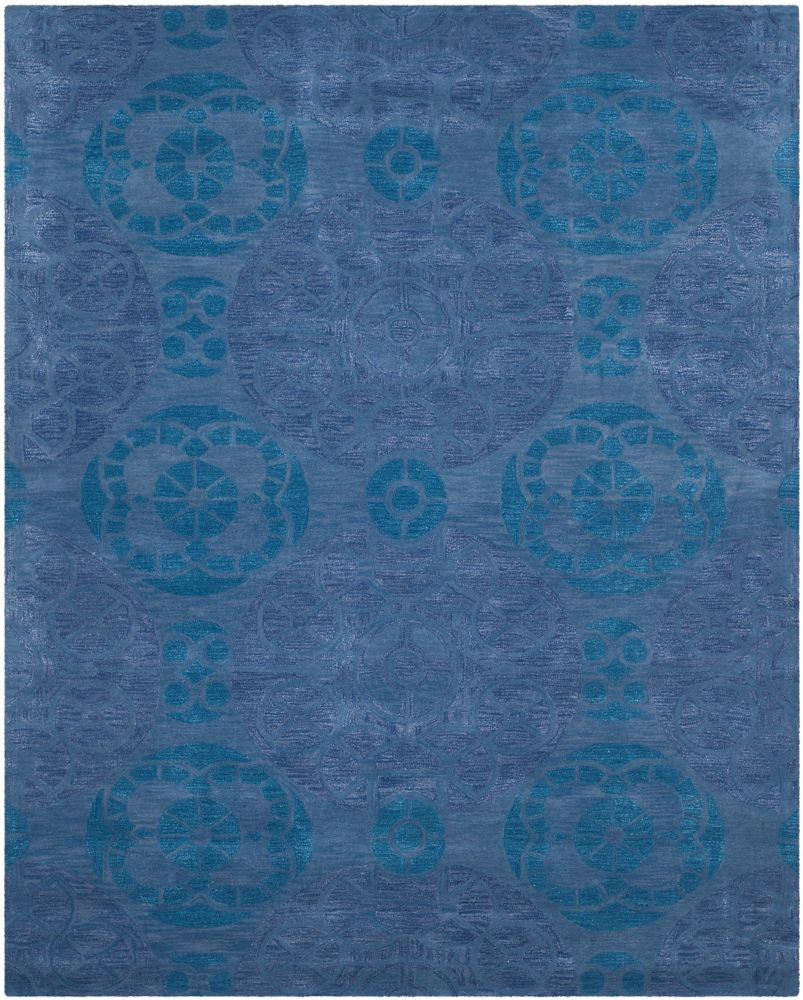 Wyndham Keisha Blue 8 ft. x 10 ft. Indoor Area Rug