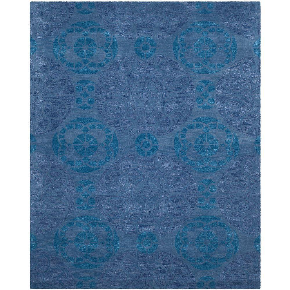 Safavieh Tapis d'intérieur, 8 pi x 10 pi, Wyndham Keisha, bleu