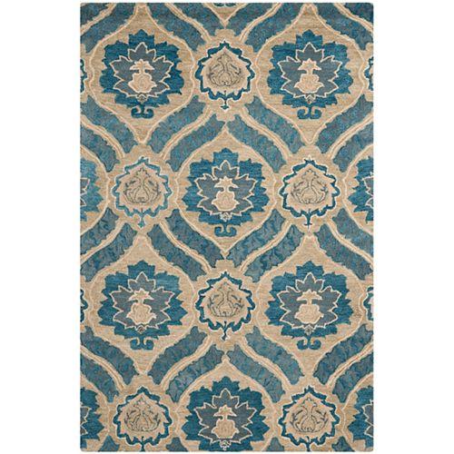 Safavieh Wyndham Ace Blue / Grey 6 ft. x 9 ft. Indoor Area Rug