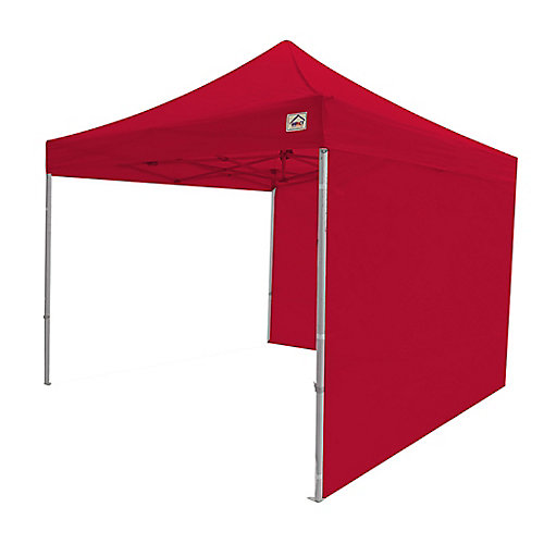 Paroi latérale pour canopées instantanées, 10 x 10 pi, rouge, ensemble de 2