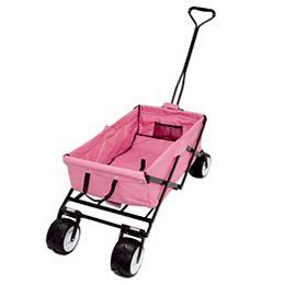 Wagon pliable pour plage et évènements sportifs, rose