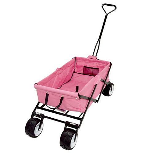 All Terrain Folding Beach/Sport Wagon in Pink