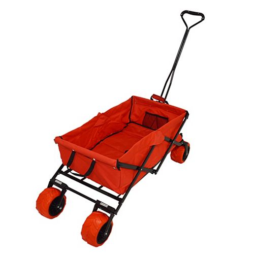 All Terrain Folding Beach/Sport Wagon in Red
