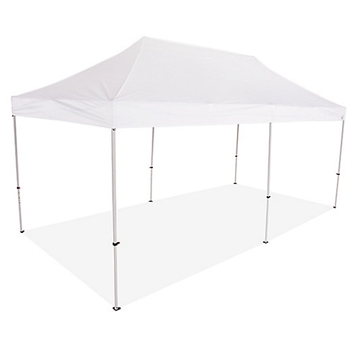 10 Feet x 20 Feet Steel Commercial Grade Pop Up Canopy Event Canopy