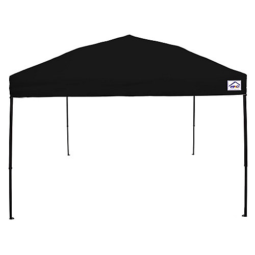 10 Feet x 10 Feet Recreational Grade Steel Sport Pop Up Canopy Black