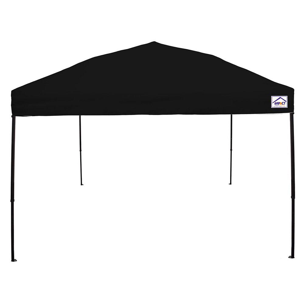 Impact Canopy Canopée pour évènements sportifs, qualité récréative, 10 x 10 pi, acier, noire