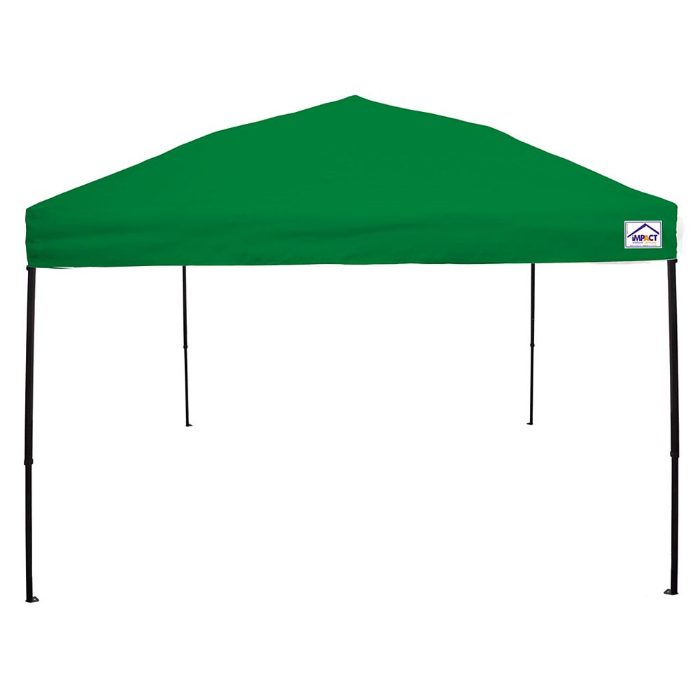 Impact Canopy Canopée pour évènements sportifs, qualité récréative, 10 x 10 pi, acier, verte vive