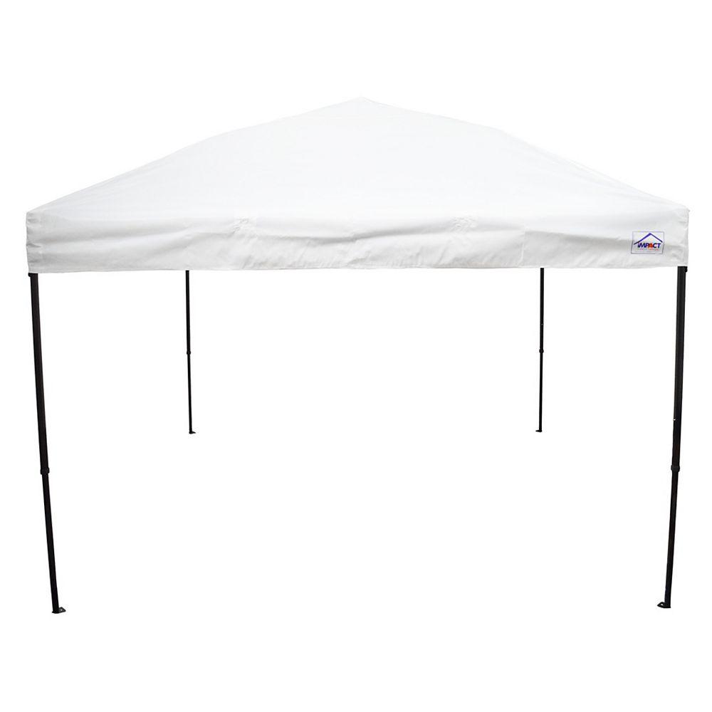 Impact Canopy Canopée pour évènements sportifs, qualité récréative, 10 x 10 pi, acier, blanche