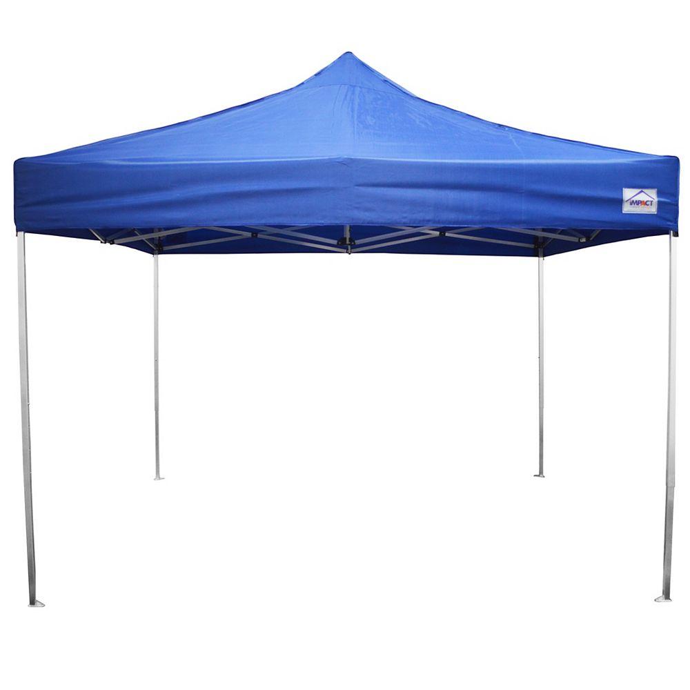 Impact Canopy Canopée instantanée, qualité récréative, aluminium ultra léger, 10 x 10 pi, bleue