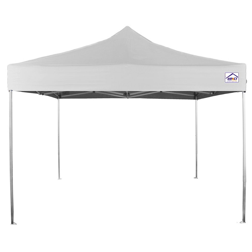 Impact Canopy Aluminum Ultra Lite 10 ft. x 10 ft. Recreational Grade Instant Pop Up Canopy in White
