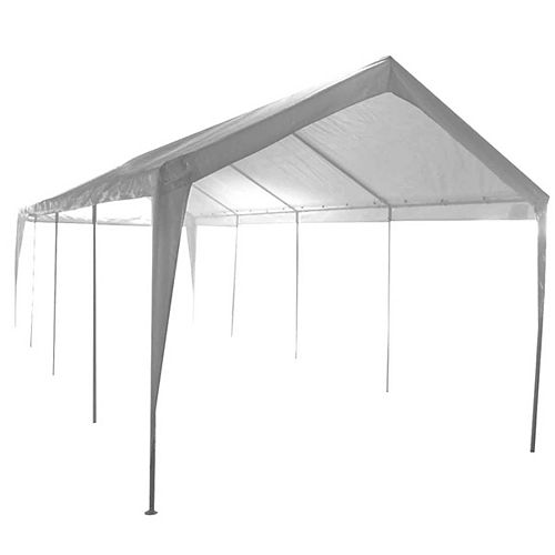 10 ft. x 27 ft. 2-Car 10-Leg Carport or Boat Cover Canopy