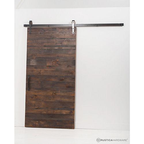 42 inch x 84 inch Rustica Reclaimed Wood Barn Door with Sliding Door Hardware Kit