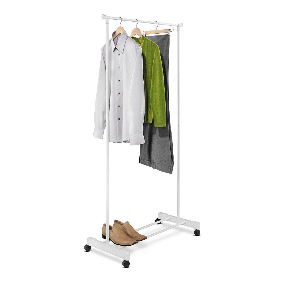 Honey-Can-Do Portable White Garment Rack