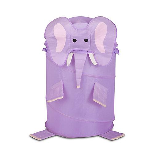Grand panier à linge à ressort pour enfants – éléphant de Honey-Can-Do
