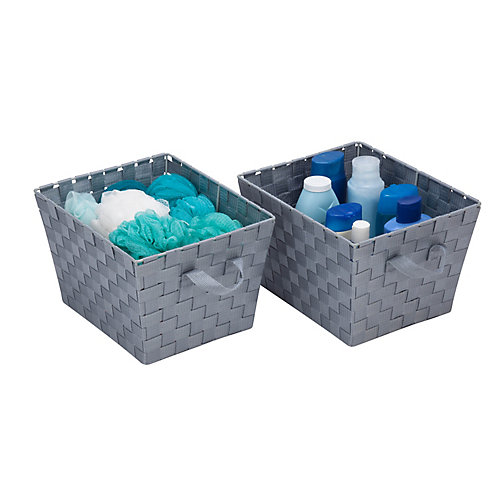 Woven Baskets, Gray (2-Pack)