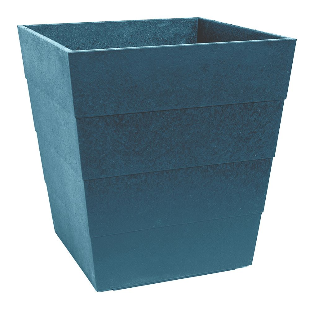 Multy Home 13 inch Lineata Unbreakable Planter Teal