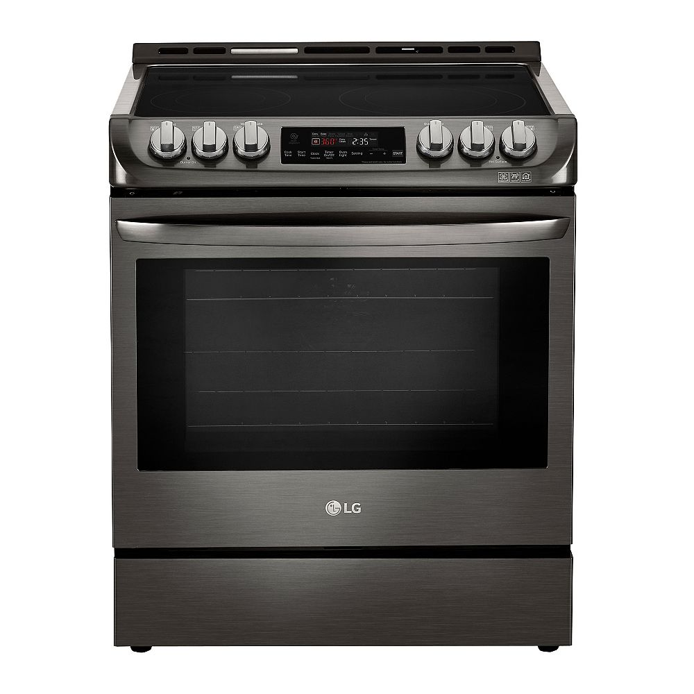 LG Electronics 6.3 cu. ft. Electric Slide-In Range with ProBake Convection and EasyClean® in Black Stainless Steel