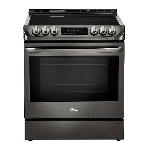 6.3 cu. ft. Electric Slide-In Range with ProBake Convection and EasyClean® in Black Stainless Steel