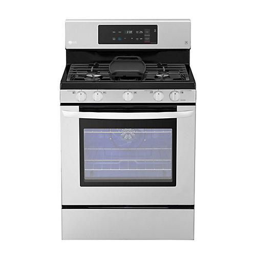 5.4 cu. ft. Gas Range Single Oven with EasyClean and True Convection in Stainless Steel