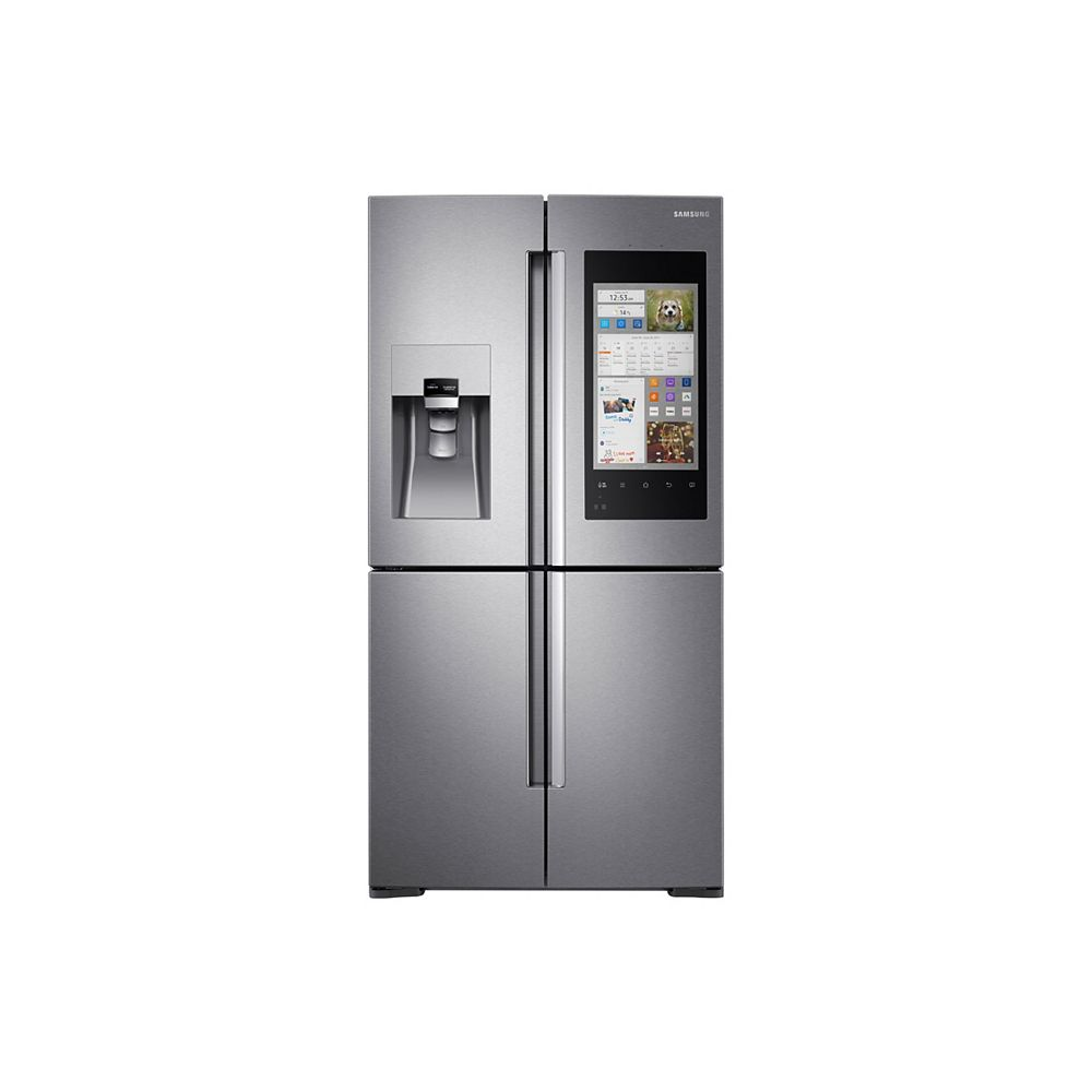 Samsung 36-inch 22 cu.ft. Smart French Door Refrigerator with Family Hub in Stainless Steel - ENERGY STAR®